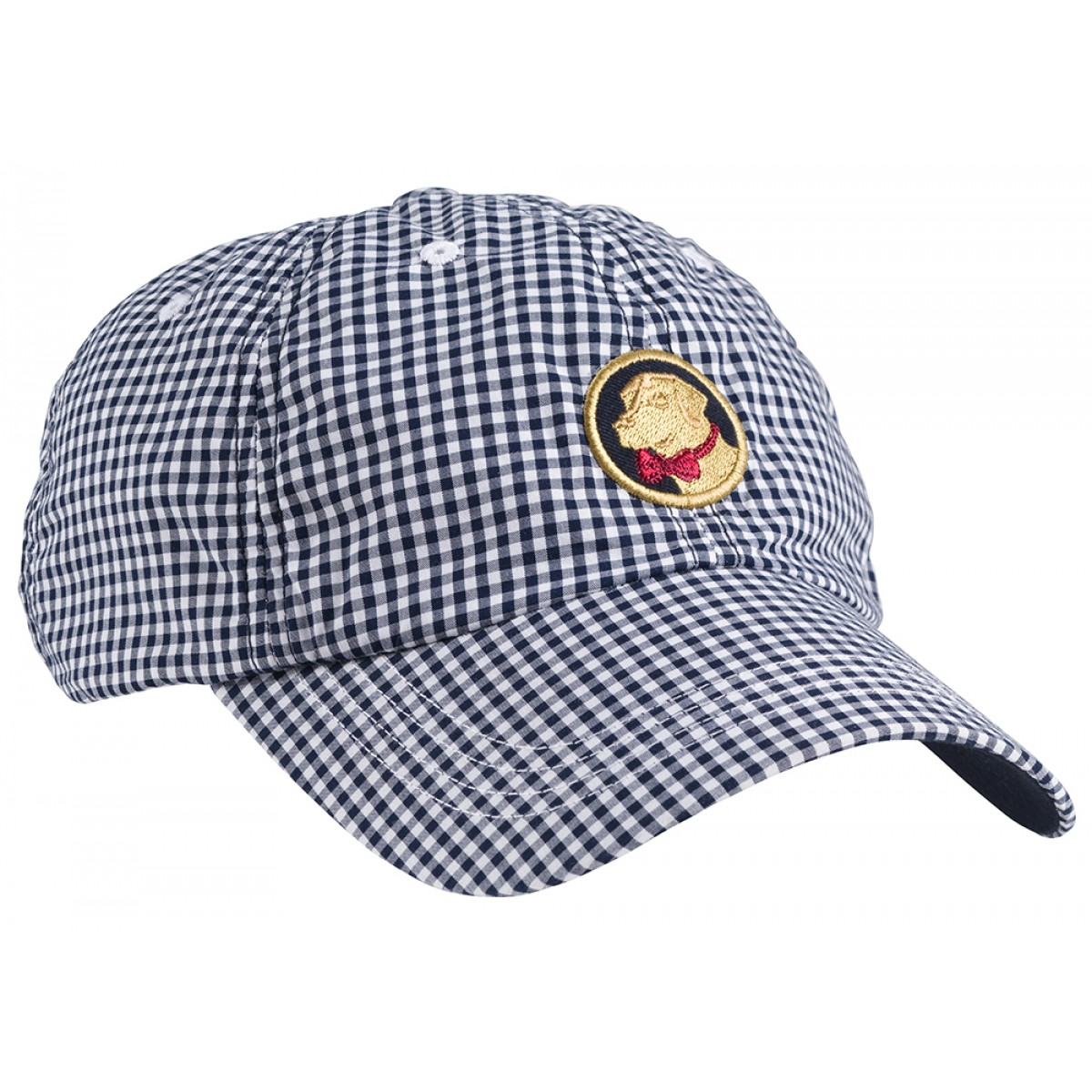 Gingham Frat Hat - Navy